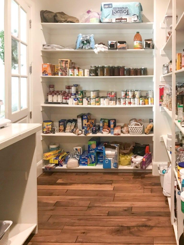 Before Pantry Shelf Organization