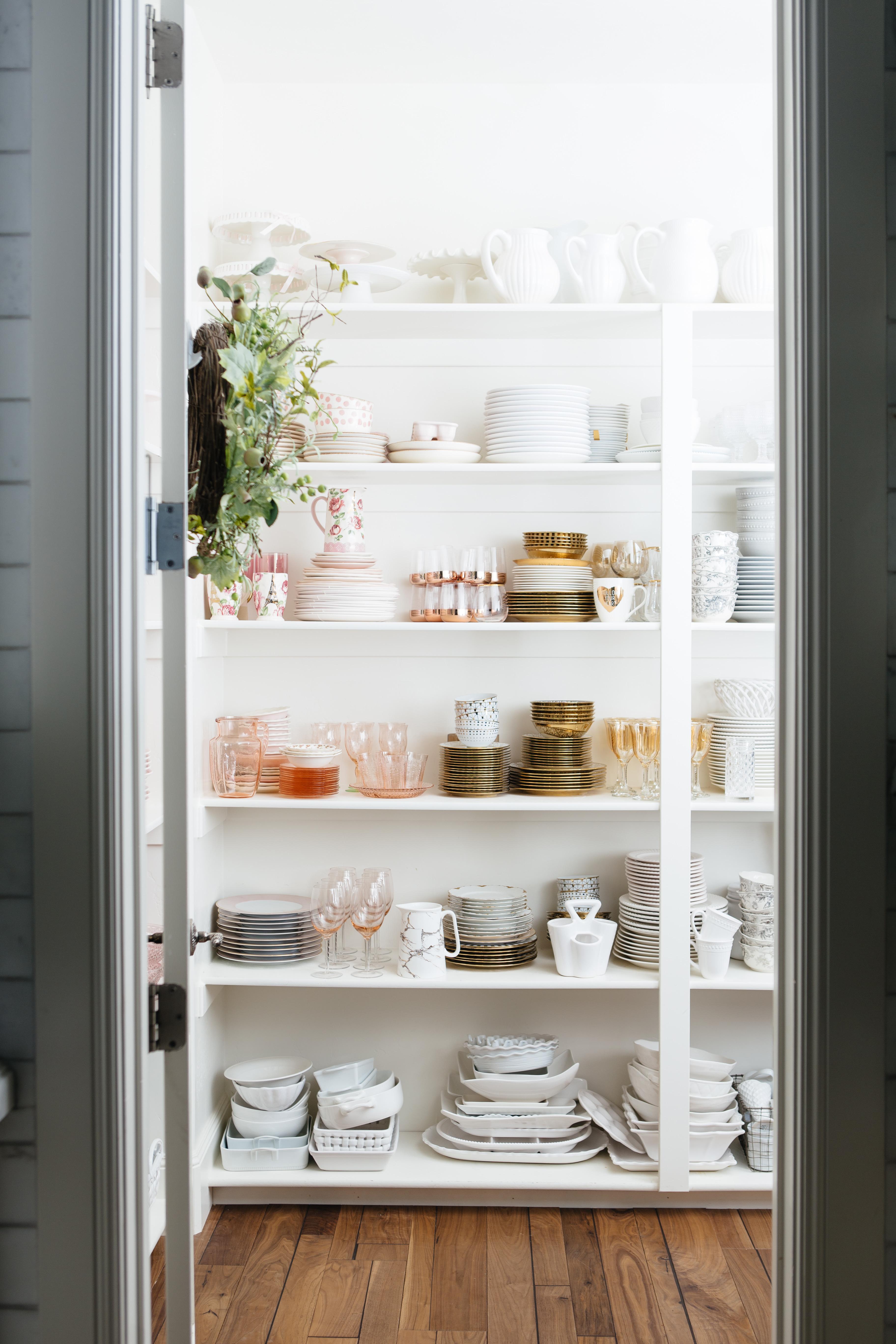 Pantry Organization For Dish Ware