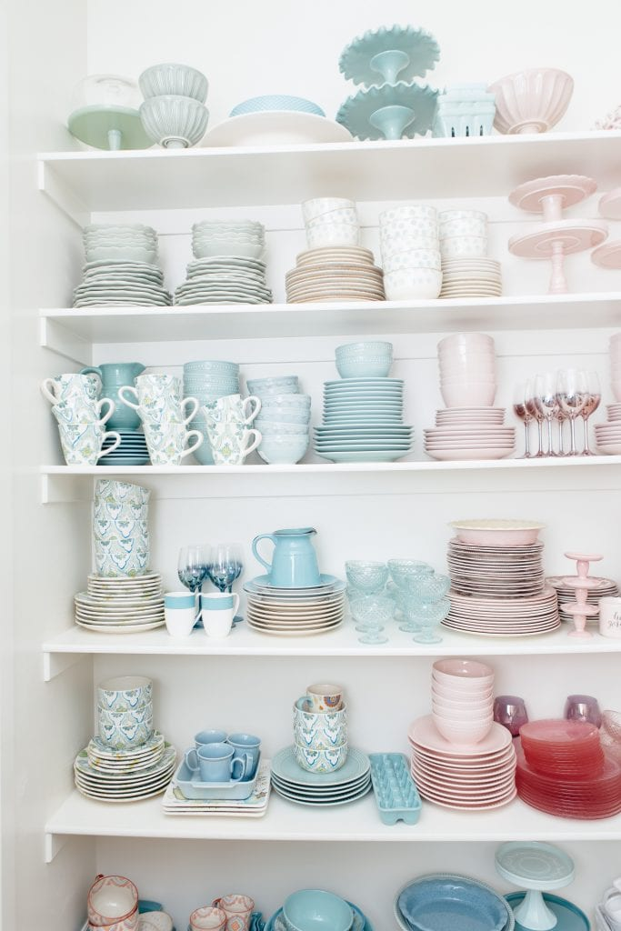 Dishes Organized In The Pantry
