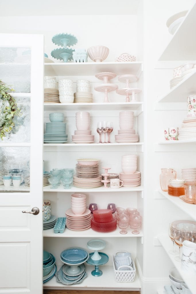 Pantry Organization Color Coded Dishes