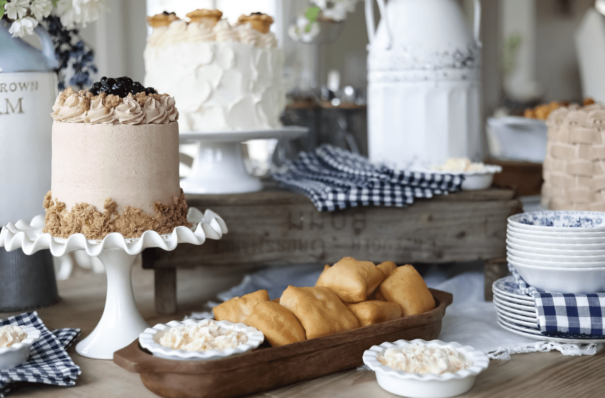 Dessert buffet with sweets and Pioneer Day pie