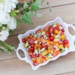 fresh tomato cucumber salad appetizer side dish