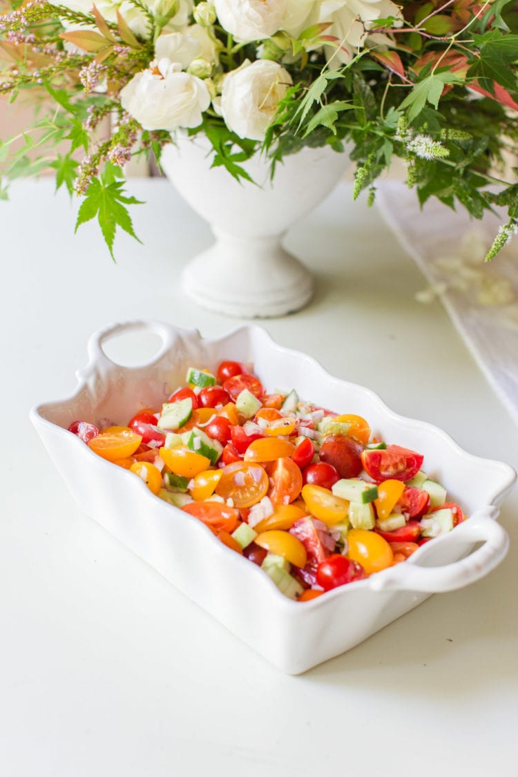 fresh tomato cucumber salad appetizer side dish