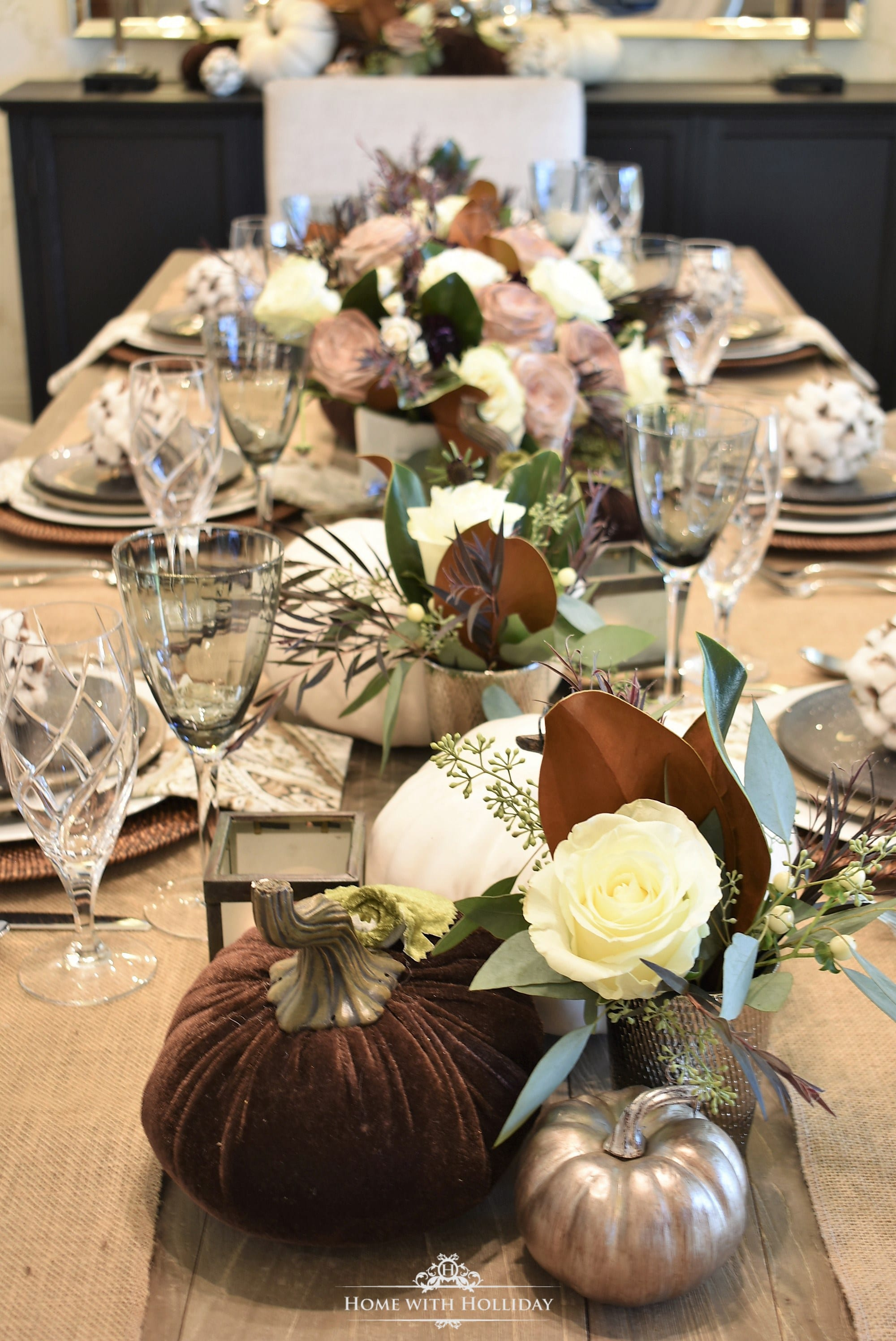 fall table setting fall tablescape fall decor entertaining ideas fall entertaining brown and white pumpkins