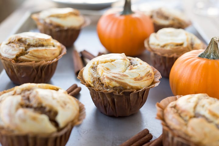 pumpkin recipes fall recipes muffins cream cheese baking dessert brunch hostess entertaining butter sugar