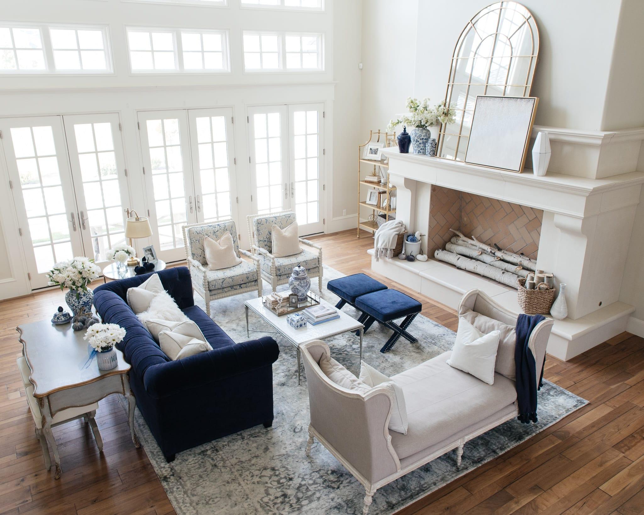 living room fall decor home decor home tour interior design ideas fall decorating home