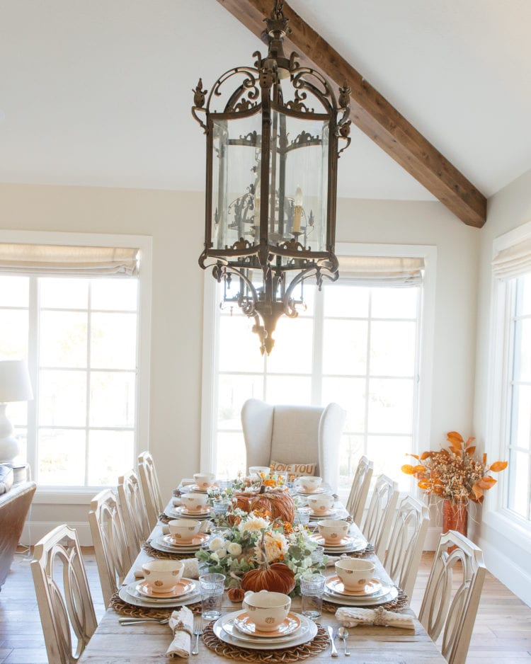 pumpkins table setting pacesetting tablescapes fall decor home decor