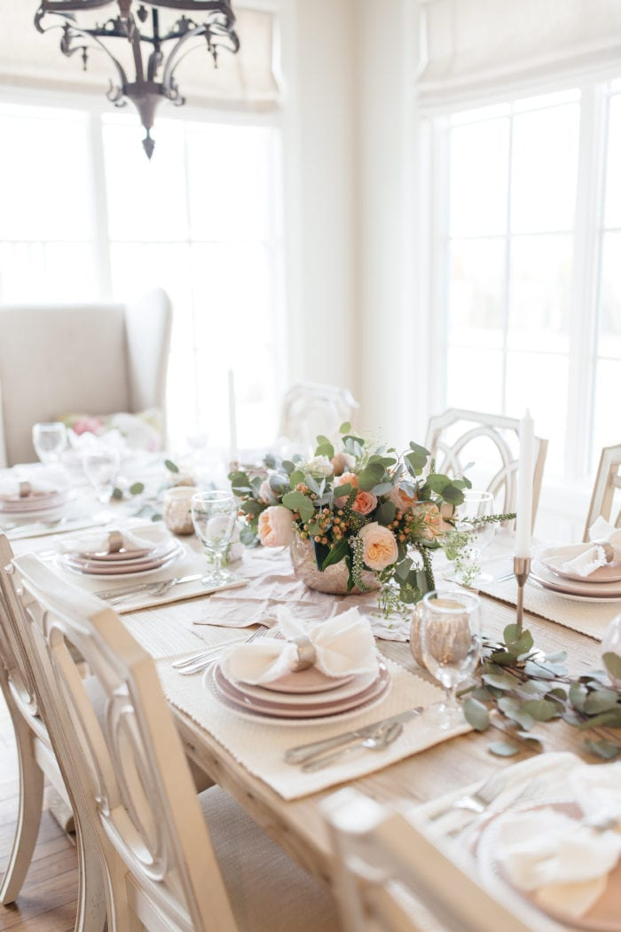 Pretty In Pink Valentines Day Tablescape