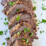 Roasted Beef Tenderloin main course beef recipes dinner ideas beef tenderloin roasting meat scalloped potatoes green beans