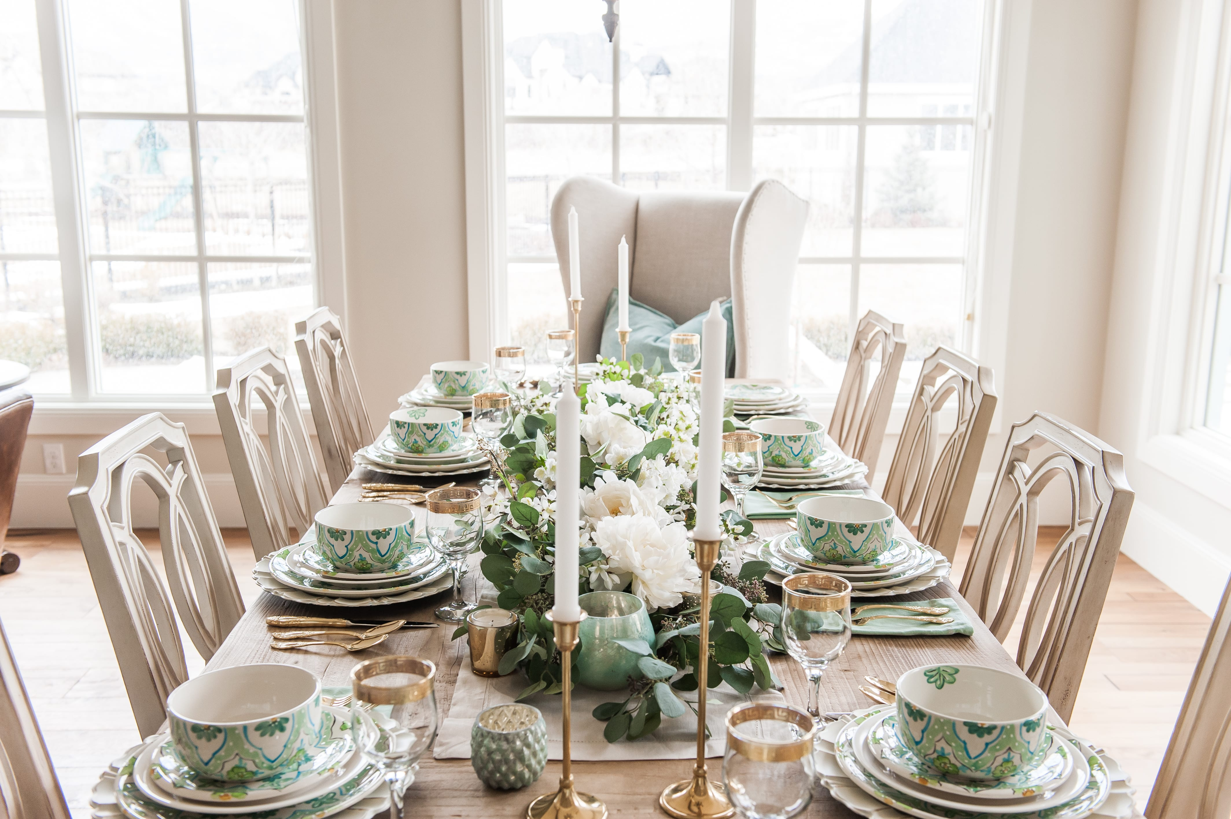 st Patricks Day spring easter dining table
