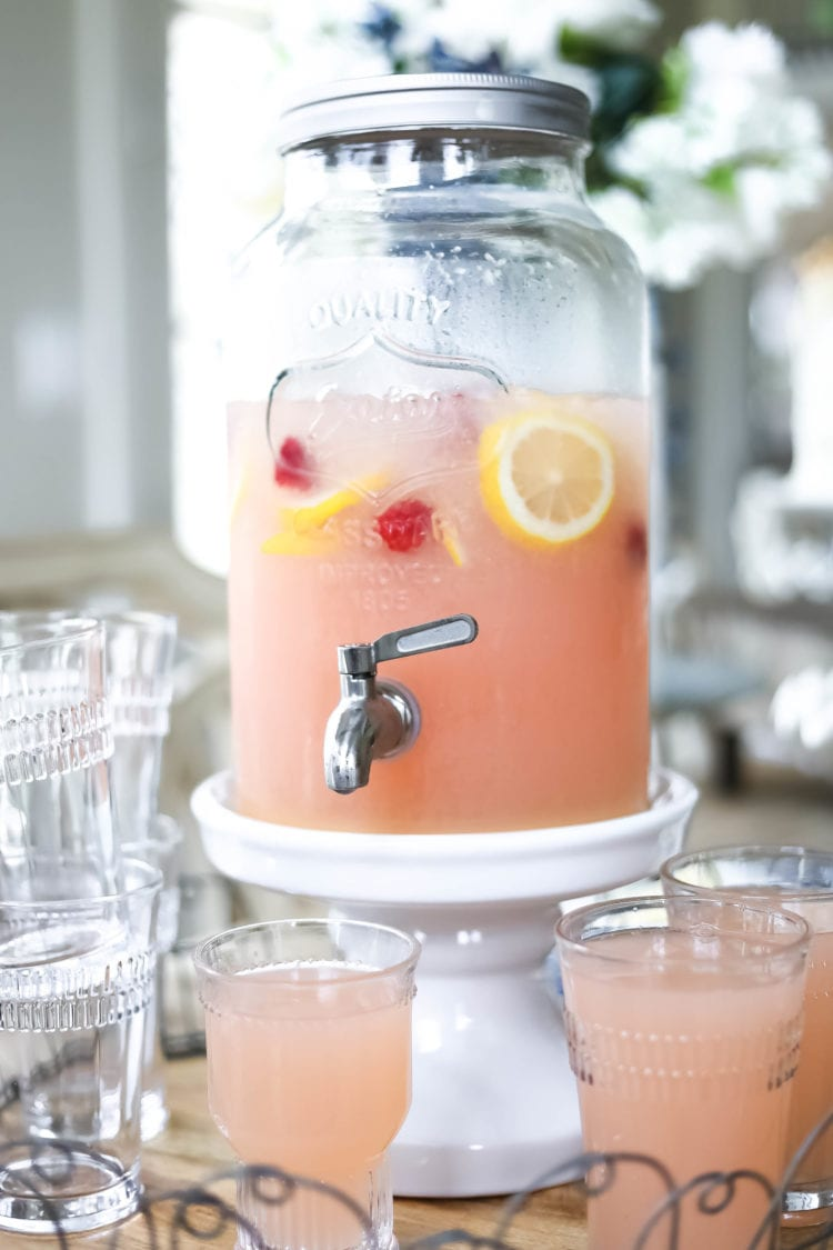 Pink Party Punch, summertime party drink, pink poolside party drinks, mocktail, punch, punch recipe, pink party punch recipe, drinks