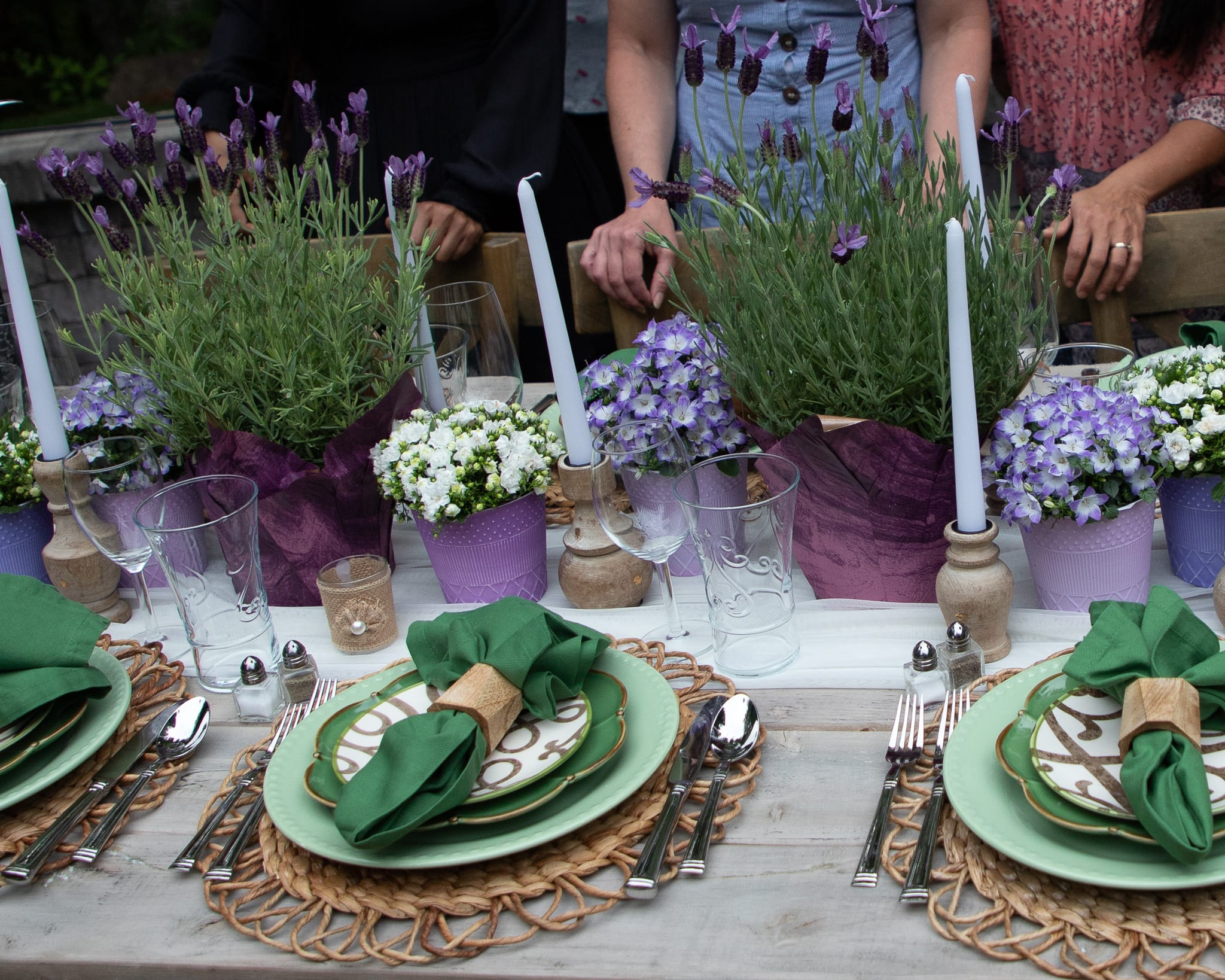 lavender inspired centerpiece