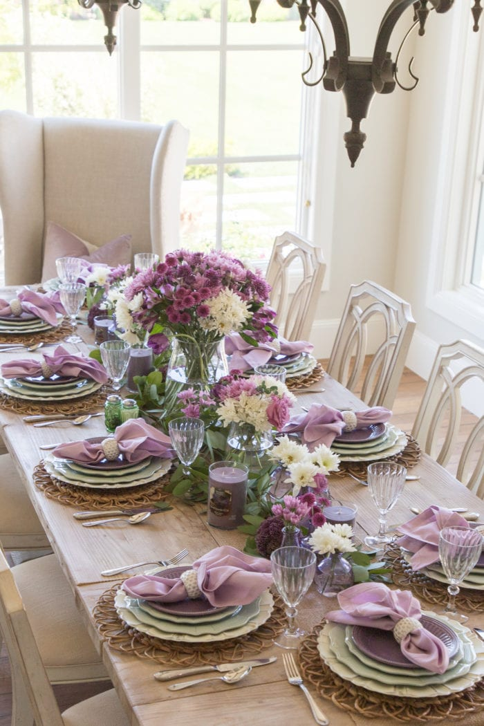 Lavender and Mint Green Tablescape