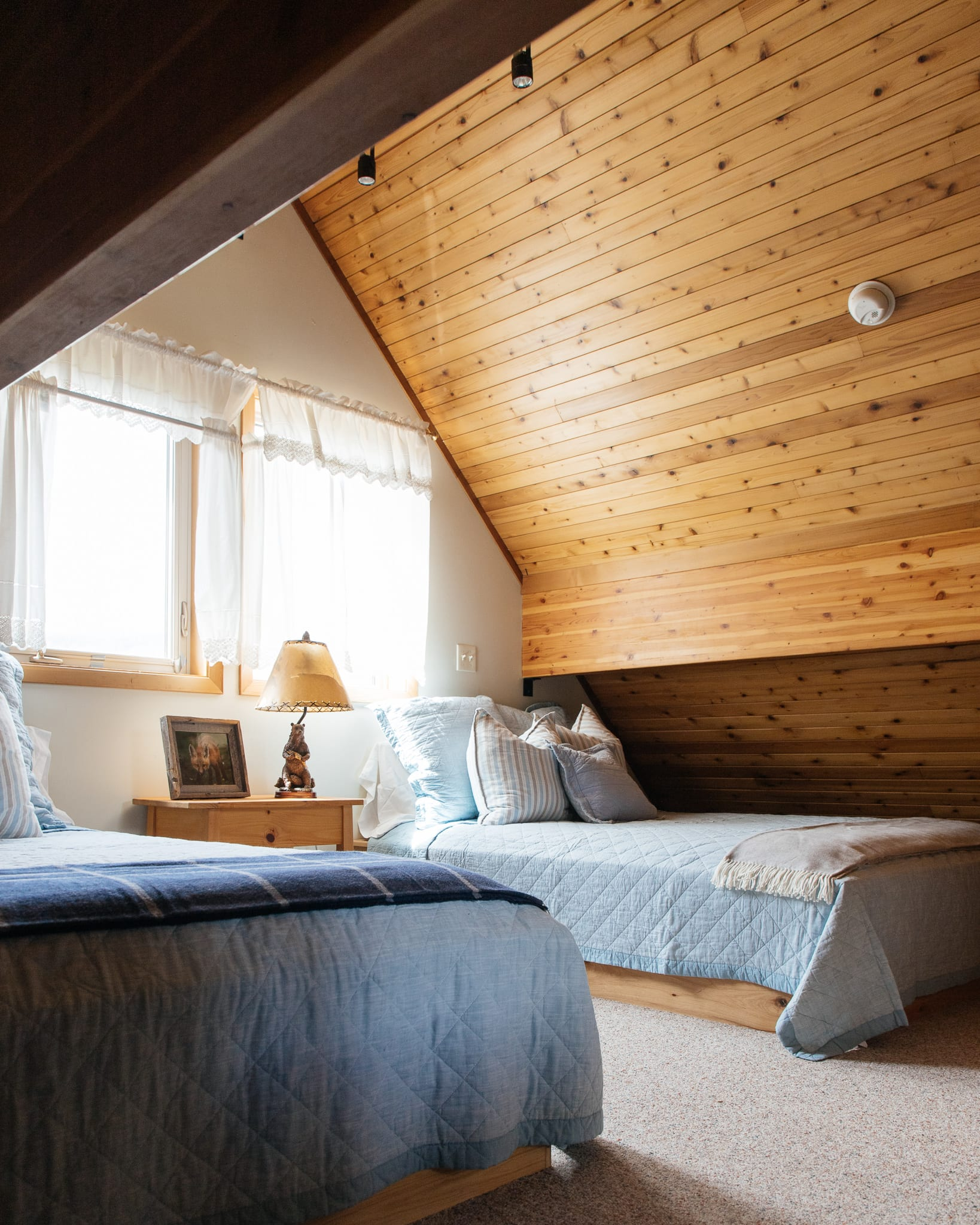 loft bedrooms with updated bedding montana cabin in the pioneer mountains polaris