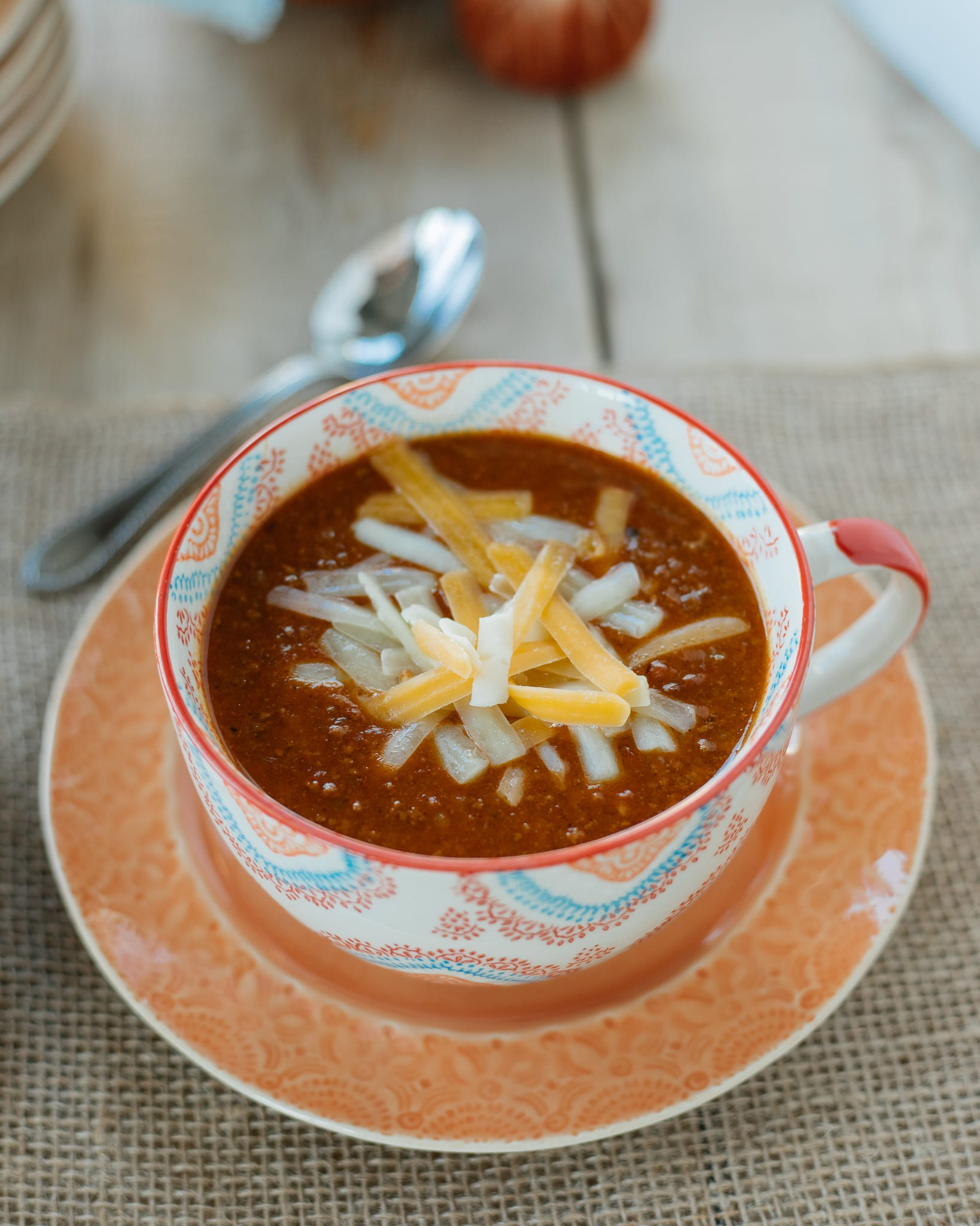 chili recipe with cheese