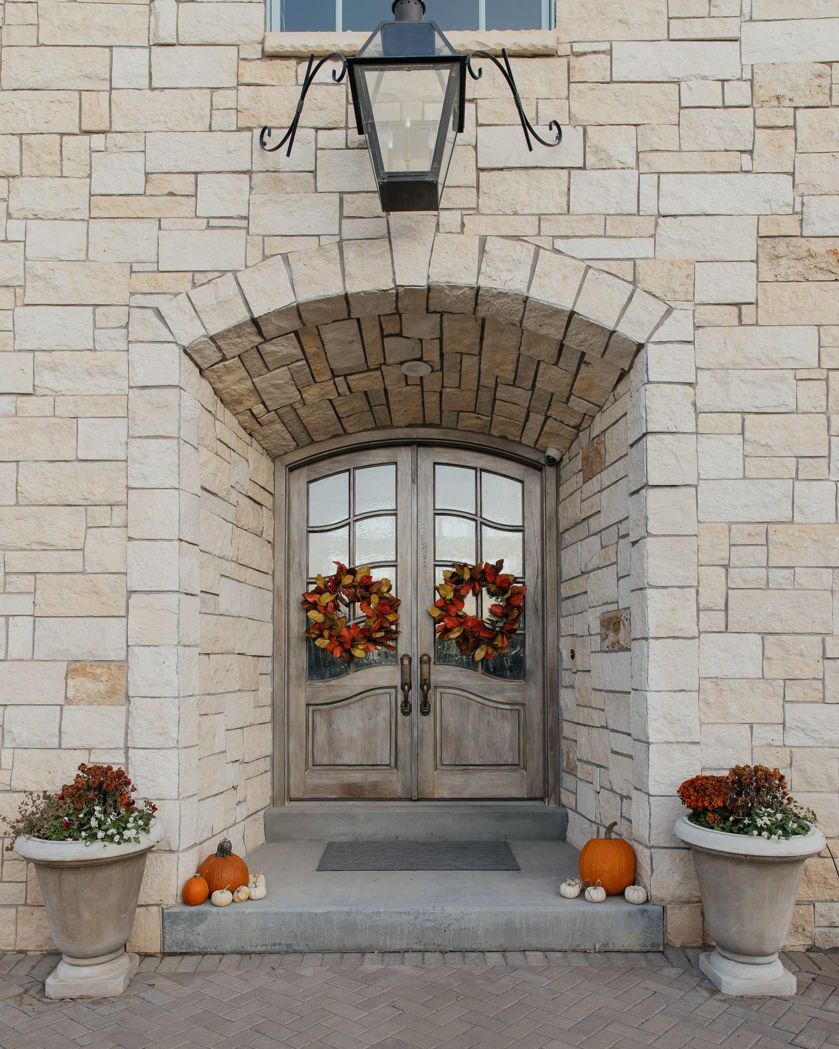 front porch decor wreaths