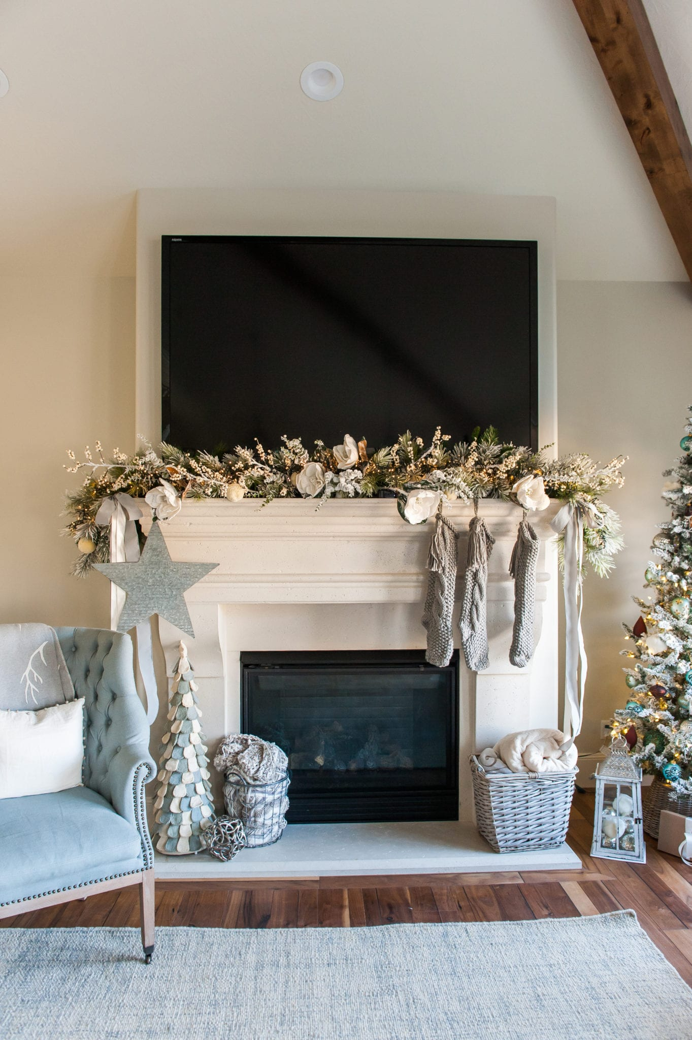 christmas fireplace mantle ideas