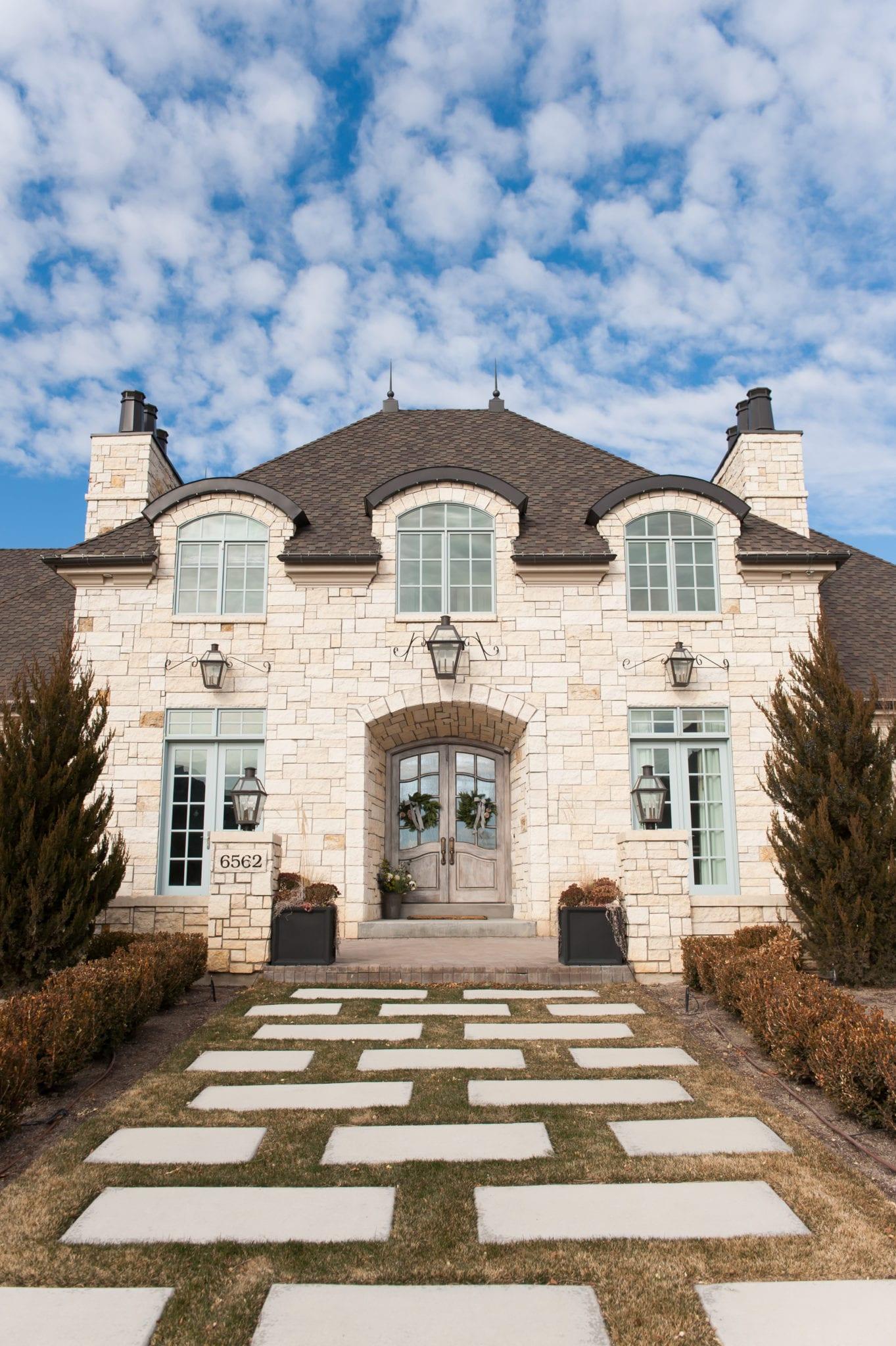 stone exterior utah homes