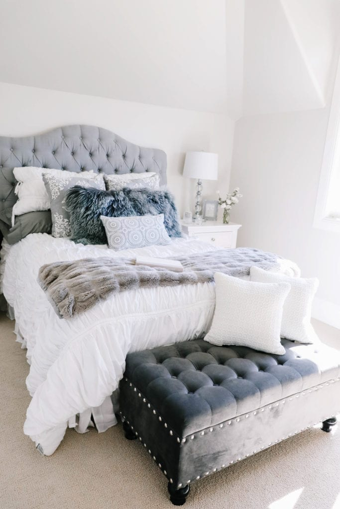 bed skirt and bedding
