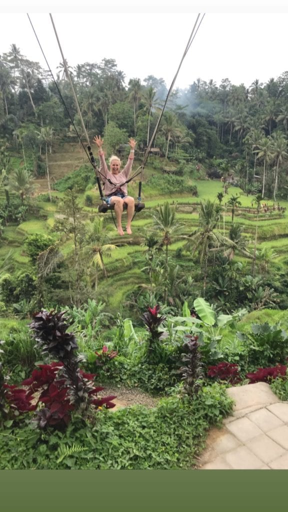 tegallalang swing rice fields Bali