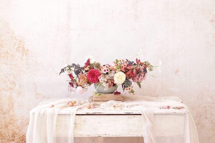 asymmetrical floral centerpiece