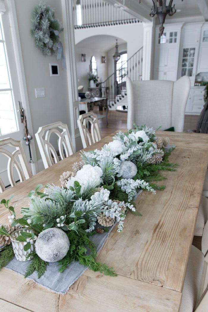How to Create a Versatile Winter Centerpiece Garland