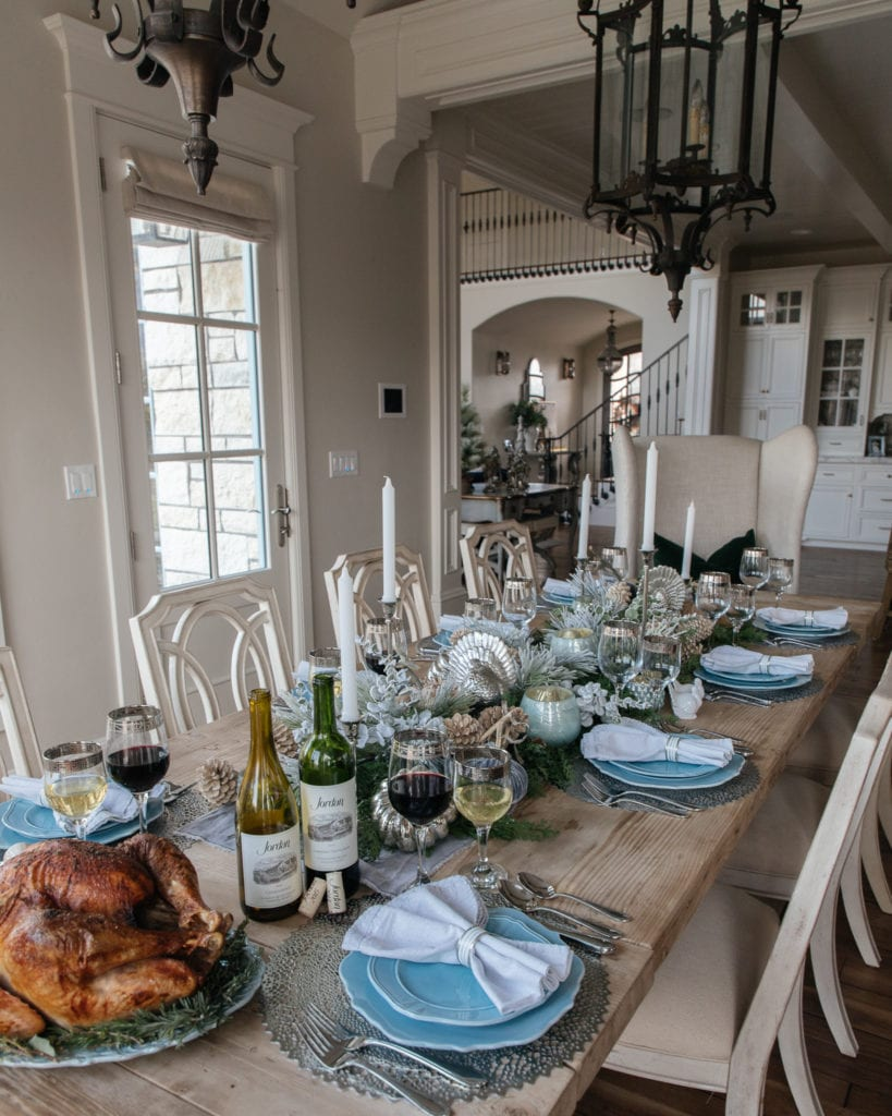 Jordan winery thanksgiving table