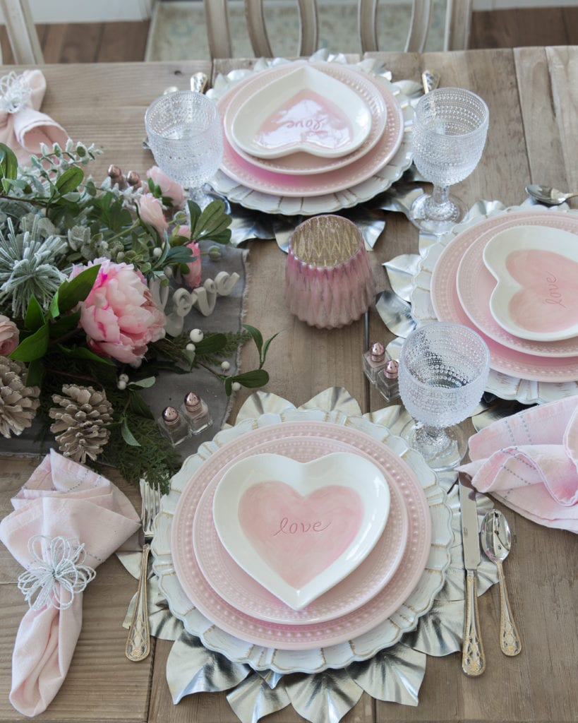 pink heart dishes pacesetting