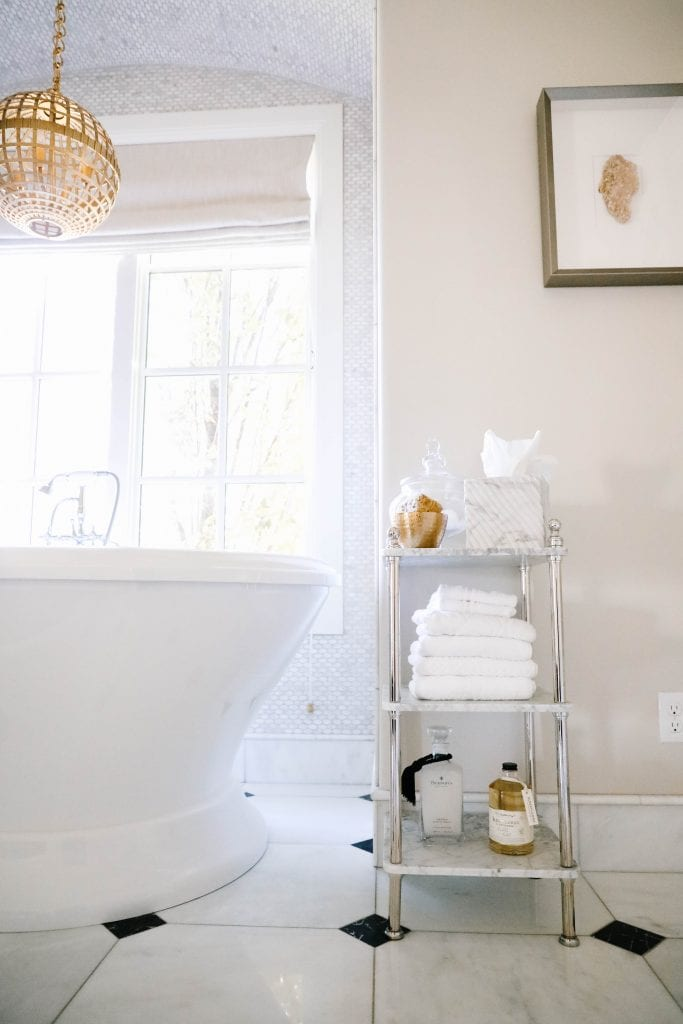 bathtub storage ideas