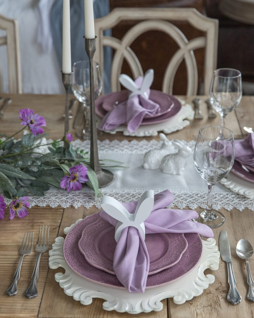 easter table place-setting