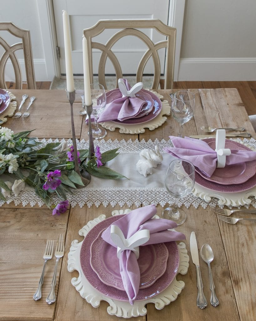 lavender easter tablesetting