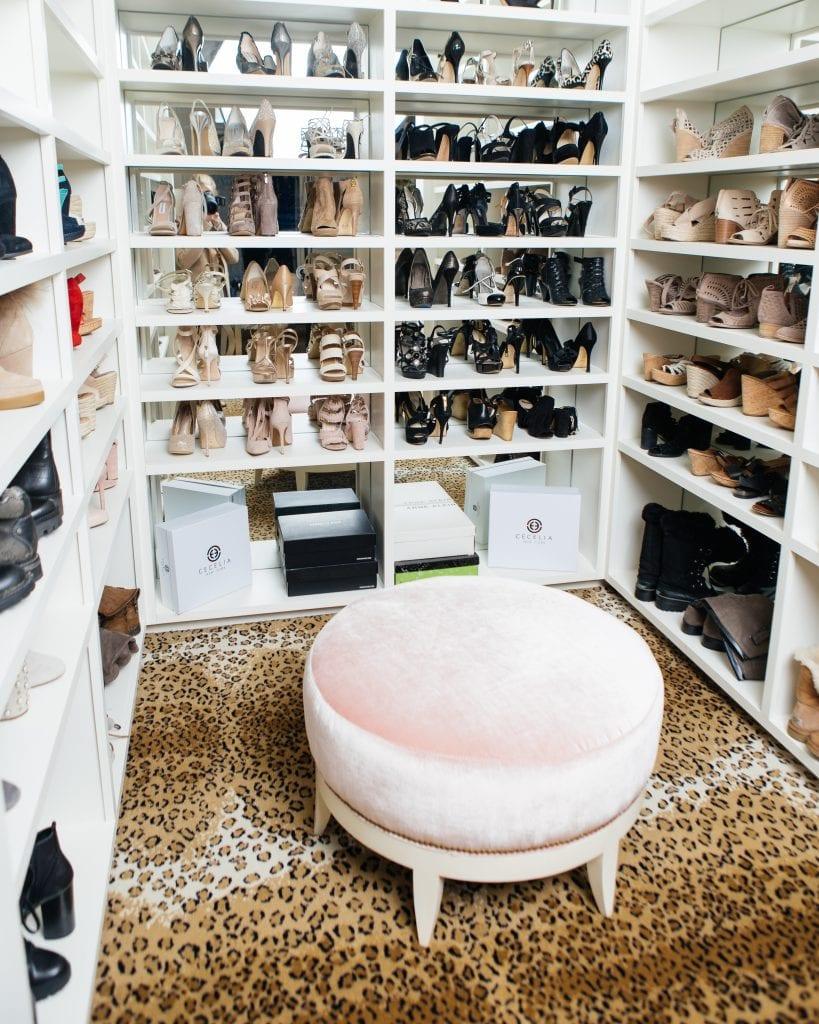 closet shoe shelves
