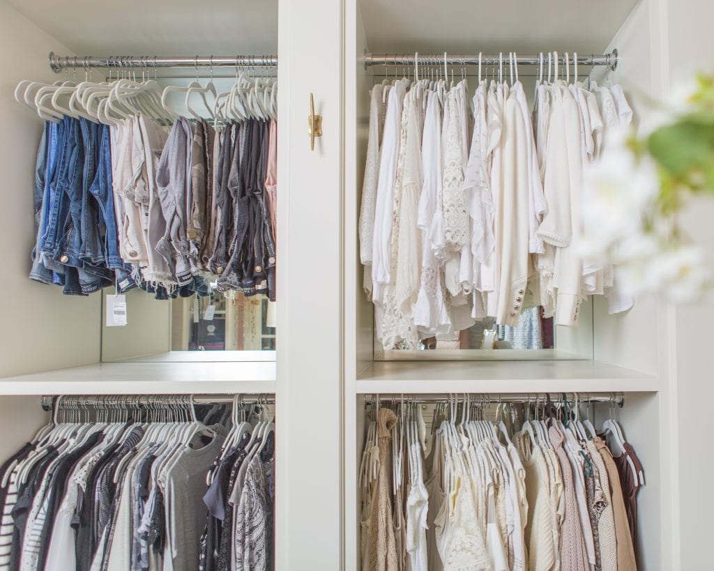 hanging space closet storage