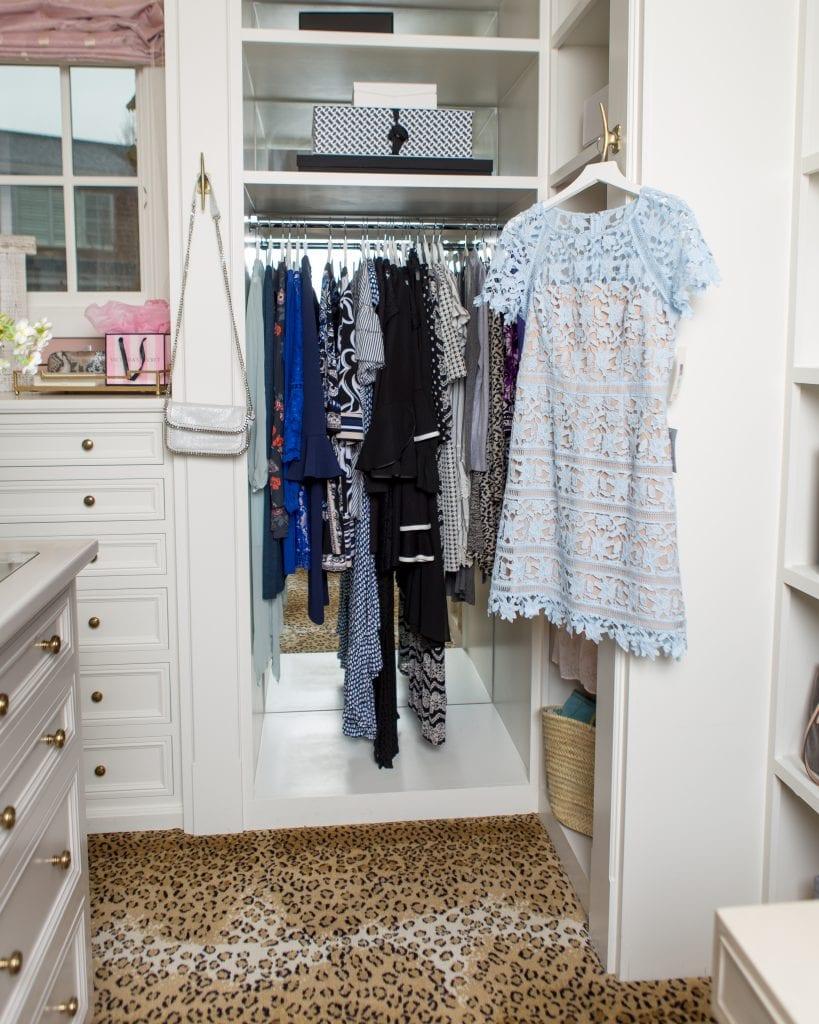 long hanging closet sections