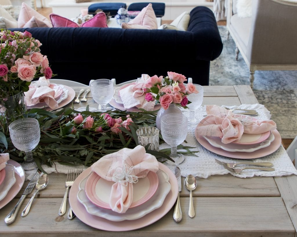 pink placesetting