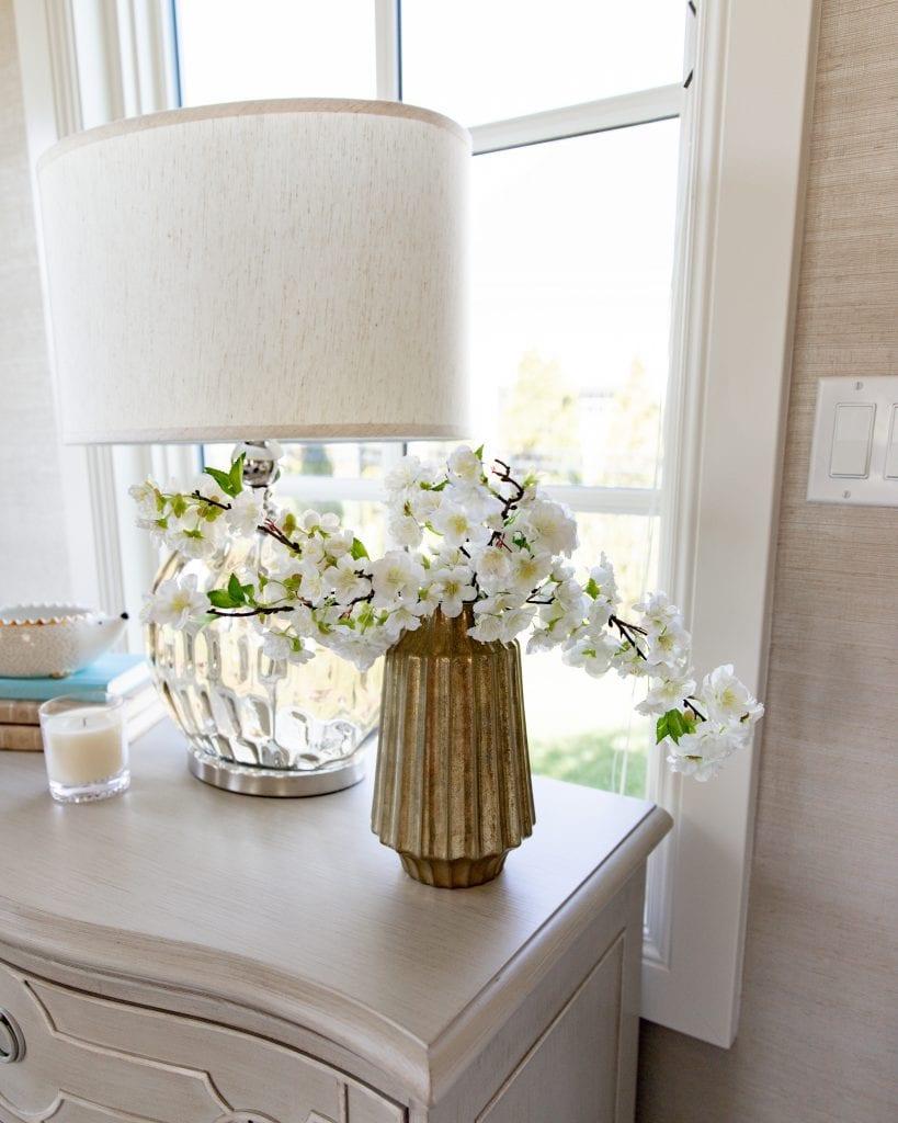 spring flowers master bedroom