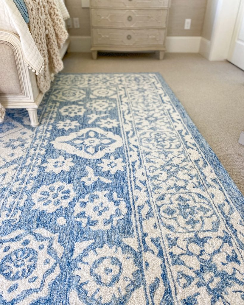 French blue rug master bedroom