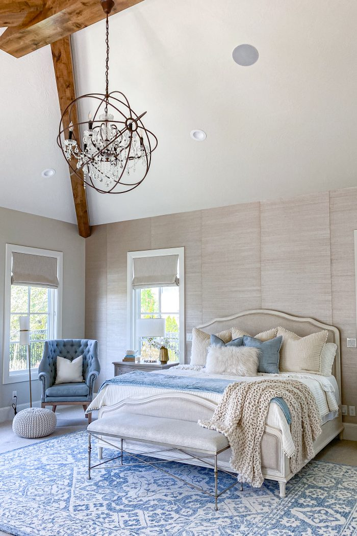 Transitional + French Country Master Bedroom