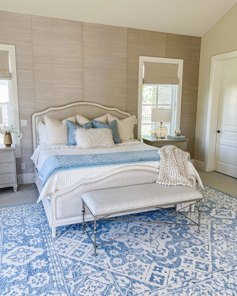 master bedroom French country blue decor