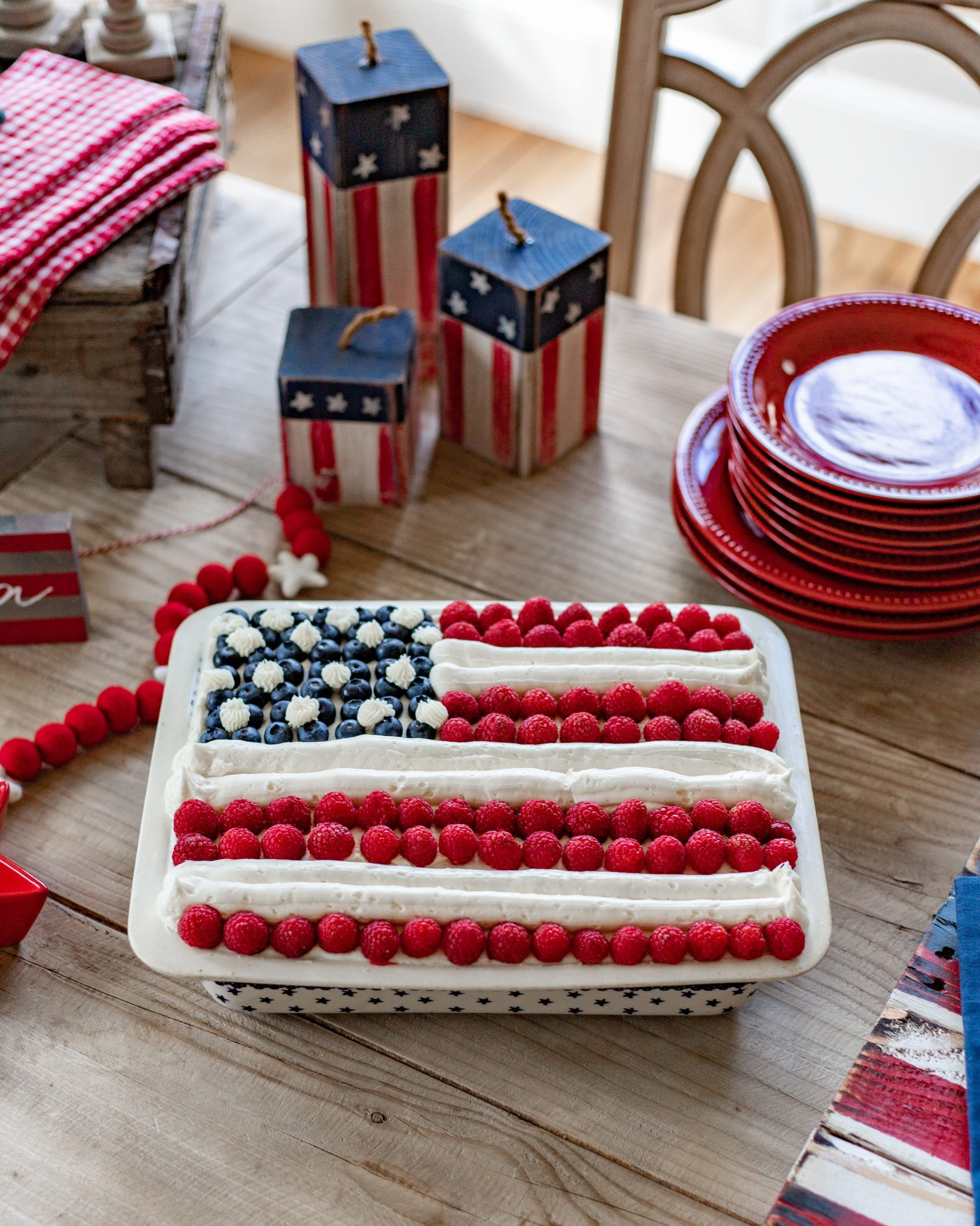 Stars and Stripes American Flag Cake
