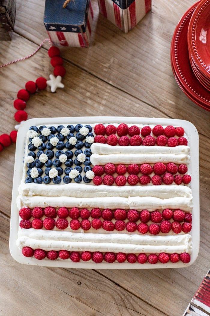 Stars and Stripes Flag Cake