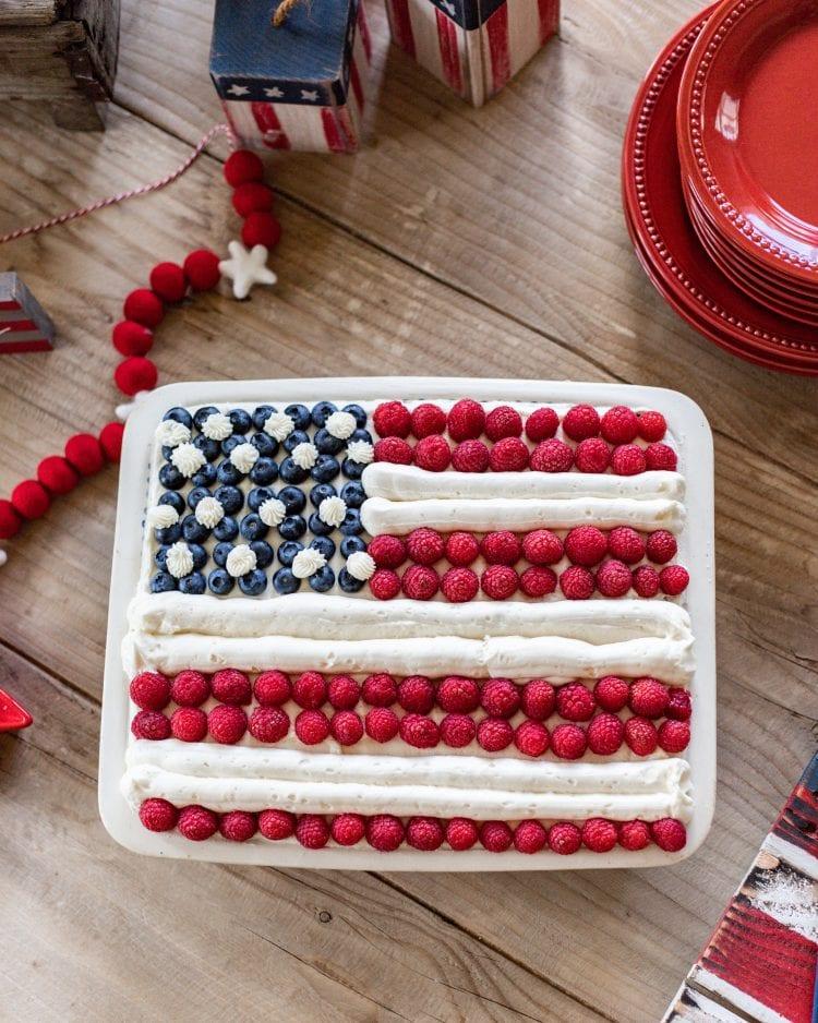 Stars and Stripes cake