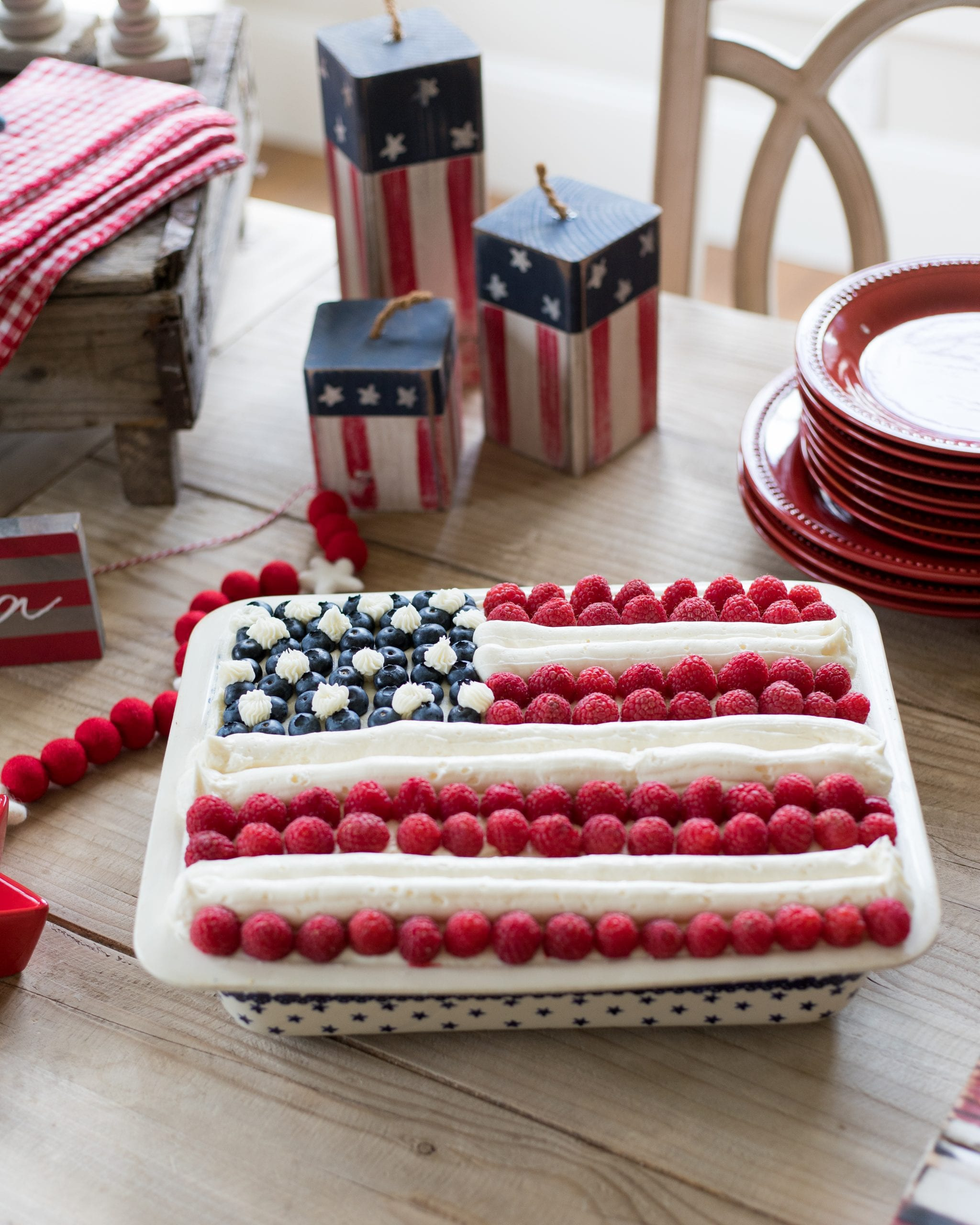 stars and stripes flag cake