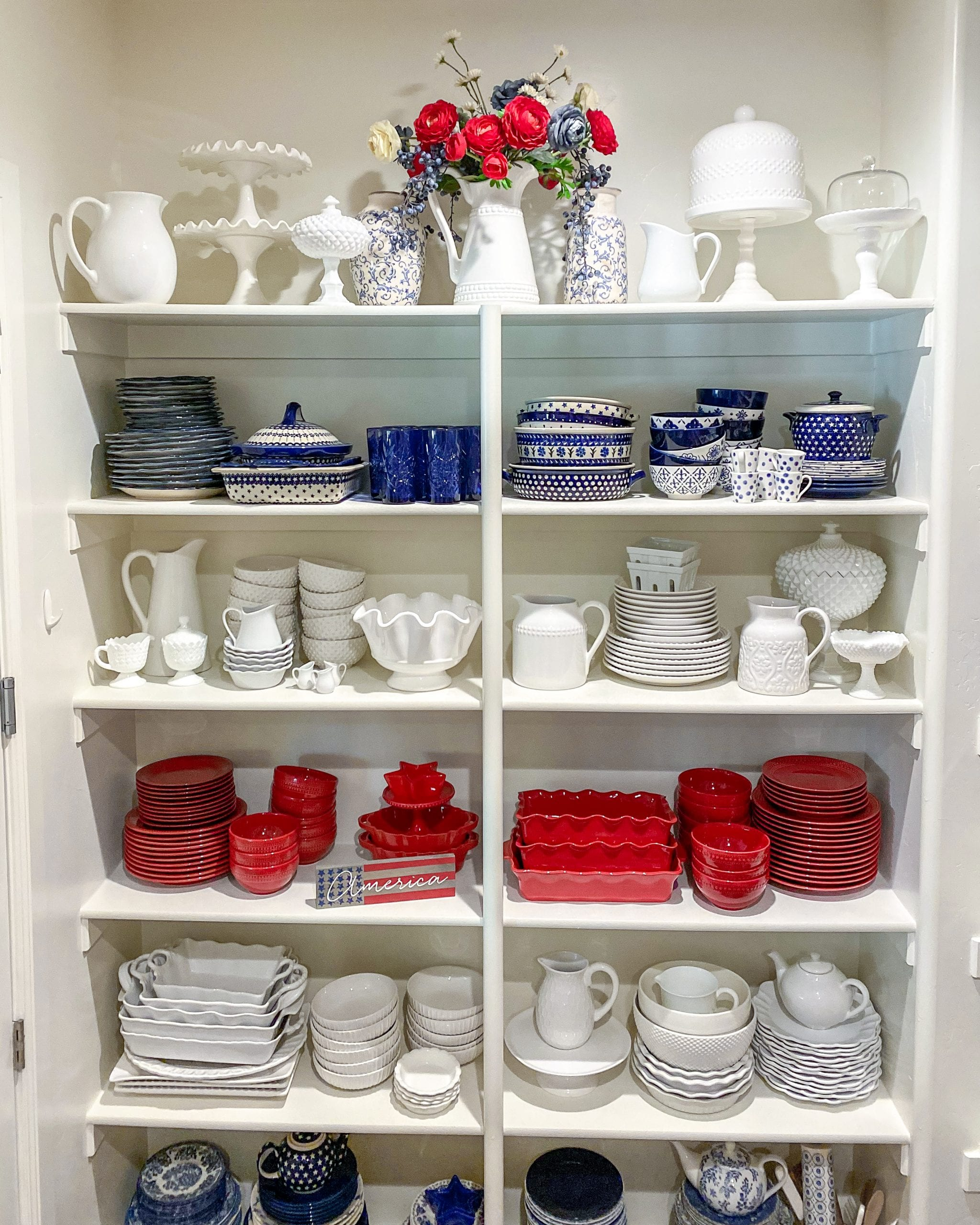 dish pantry organization by color