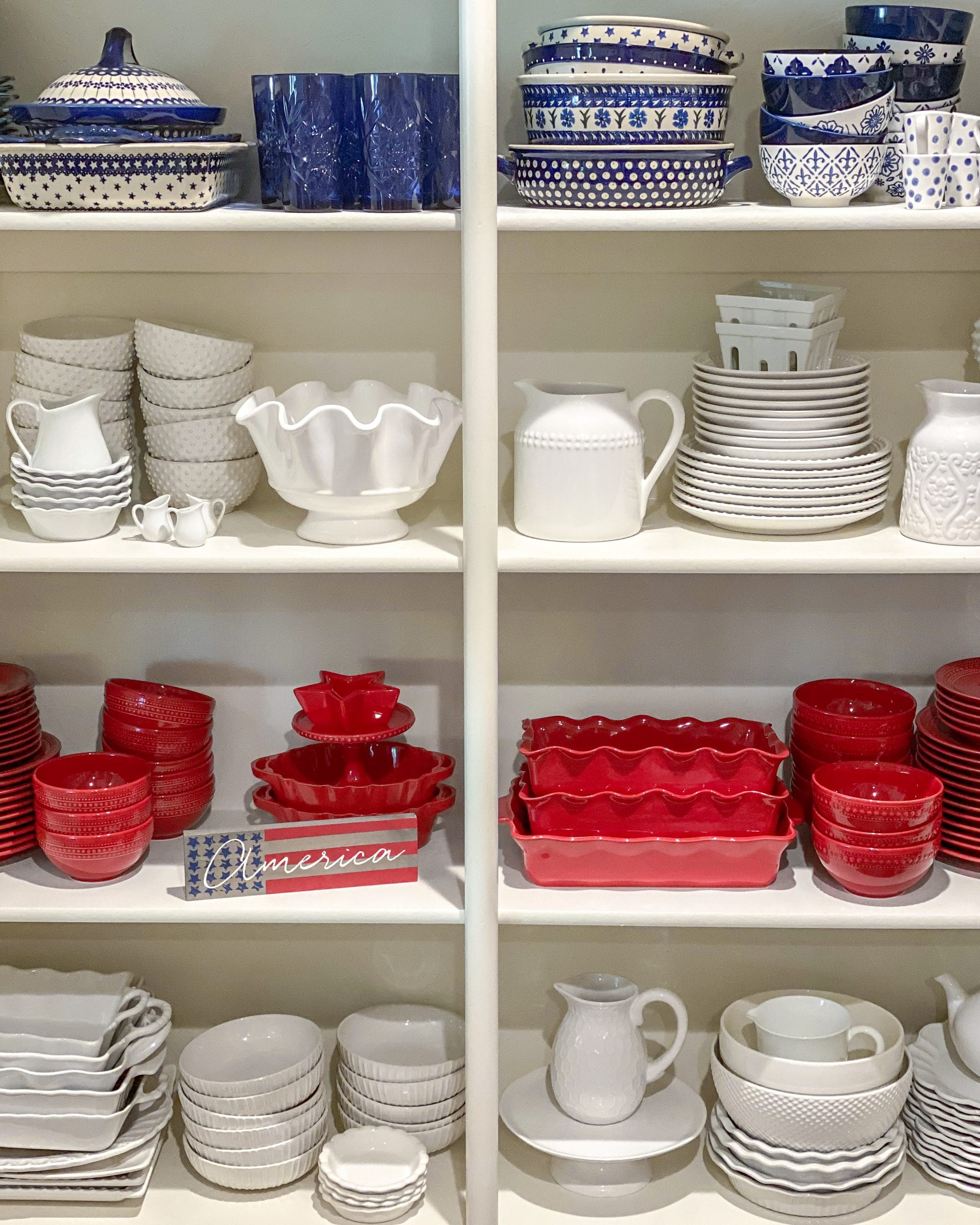 red white dishes