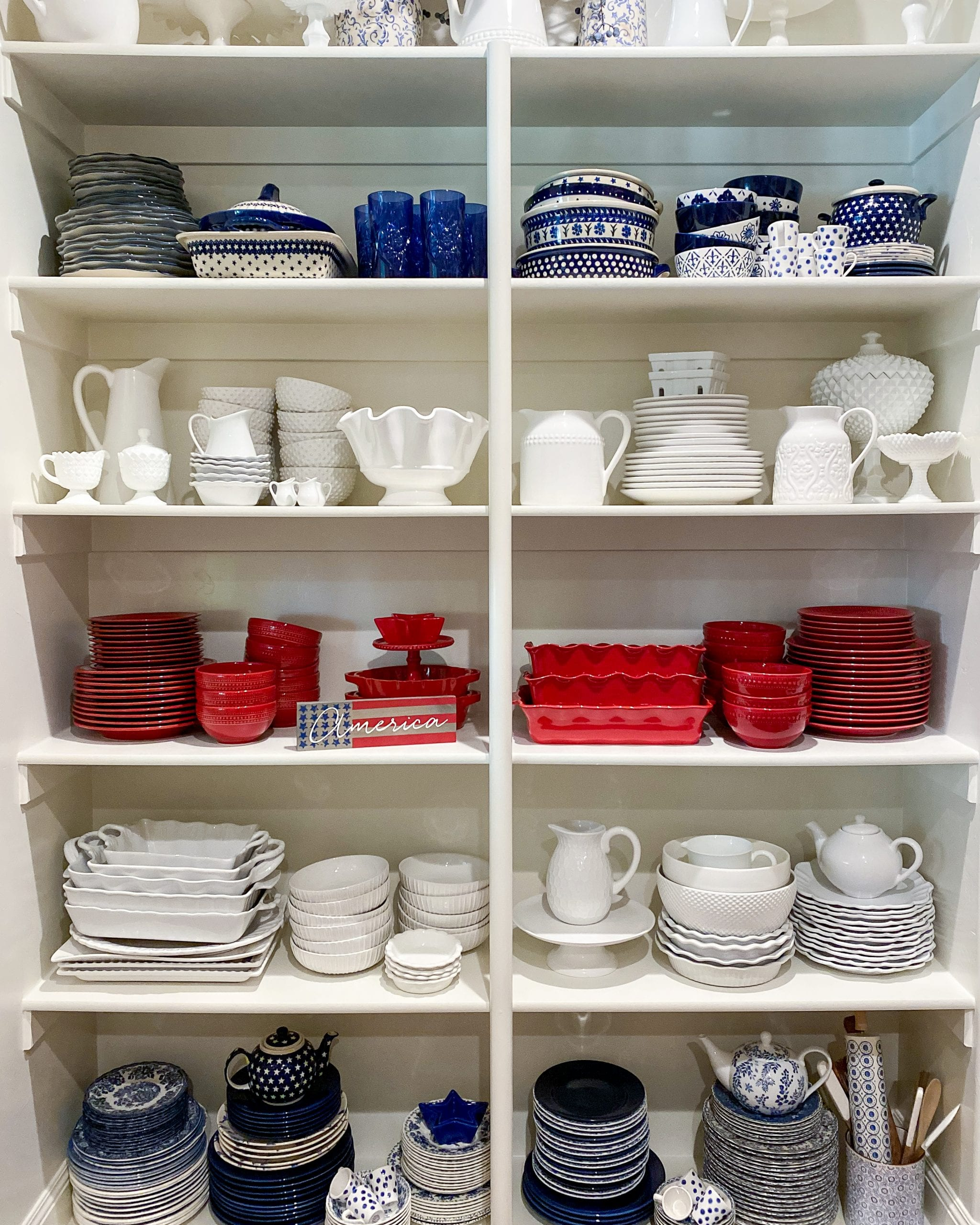 dish pantry organization