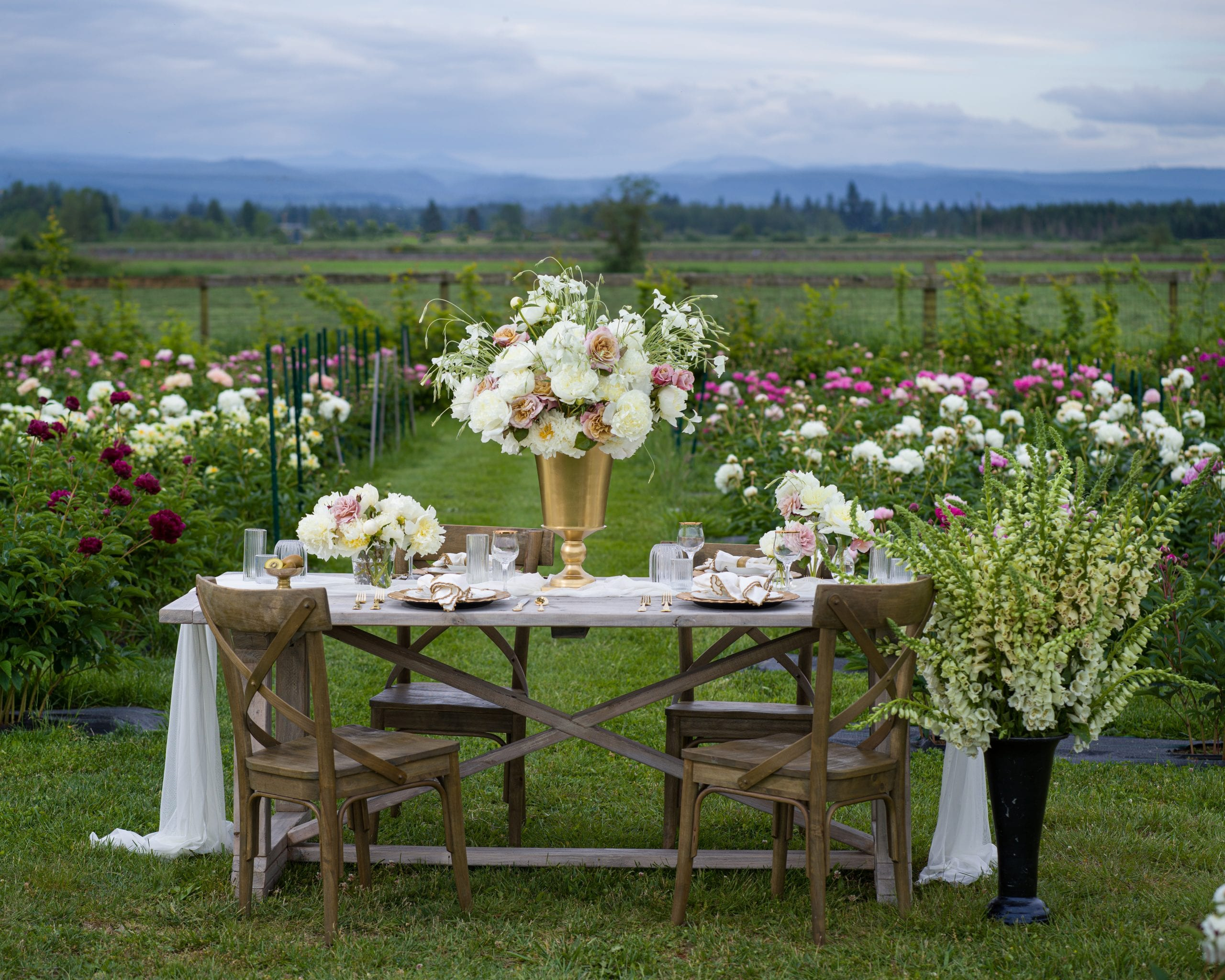 wedding tablescape flower farm