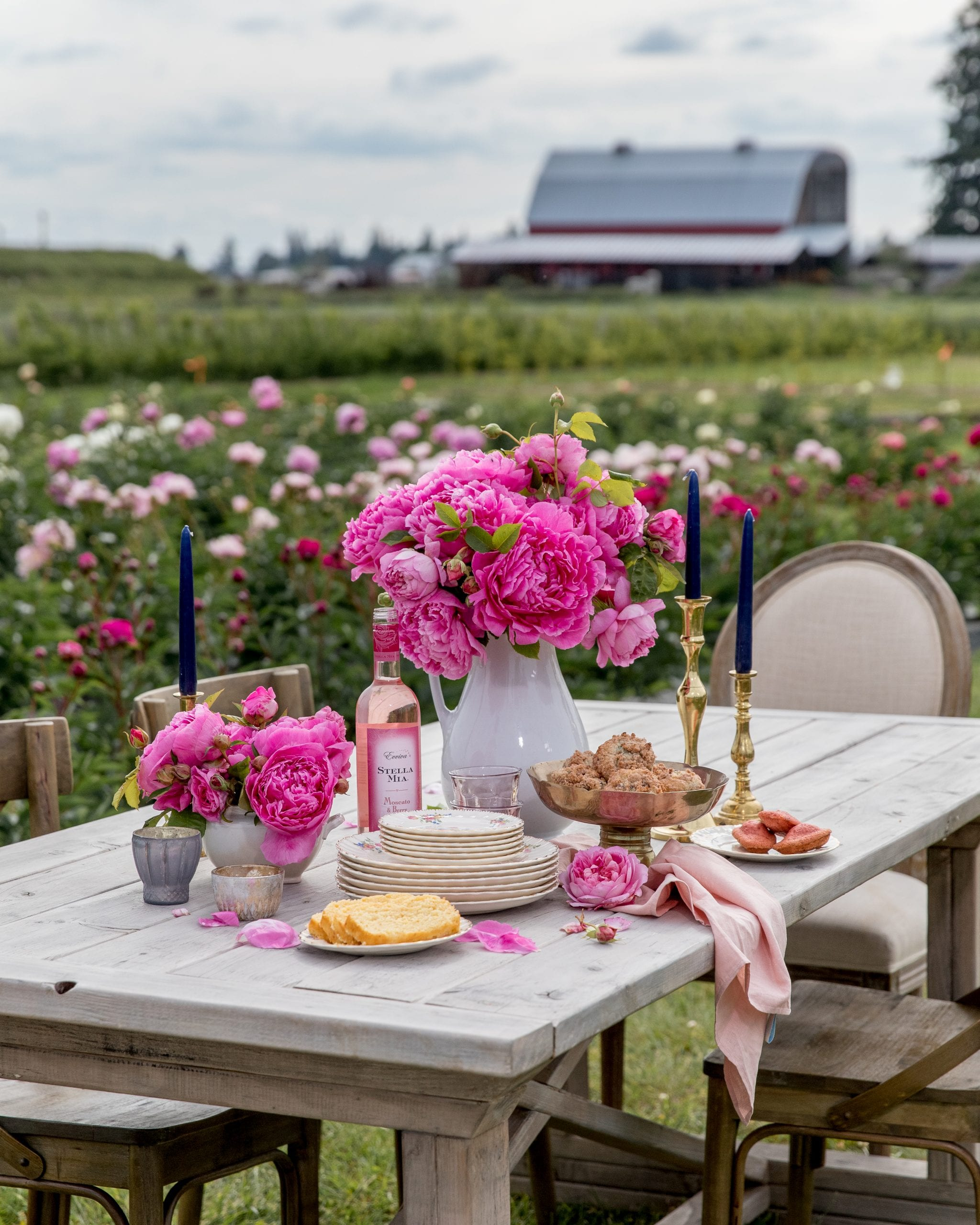 flower farm tablescape