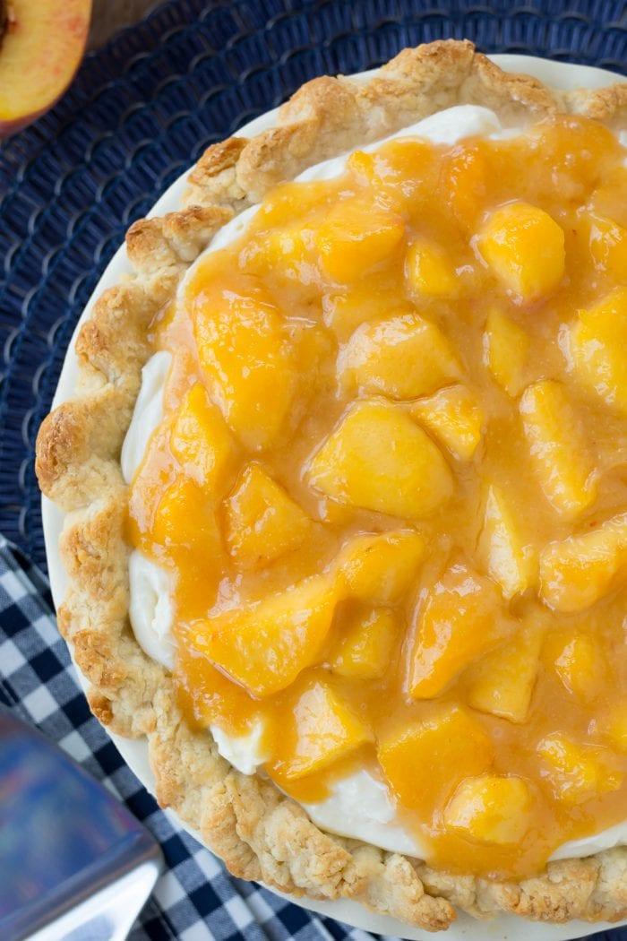 Fresh Peach Pie with Cream Cheese Filling