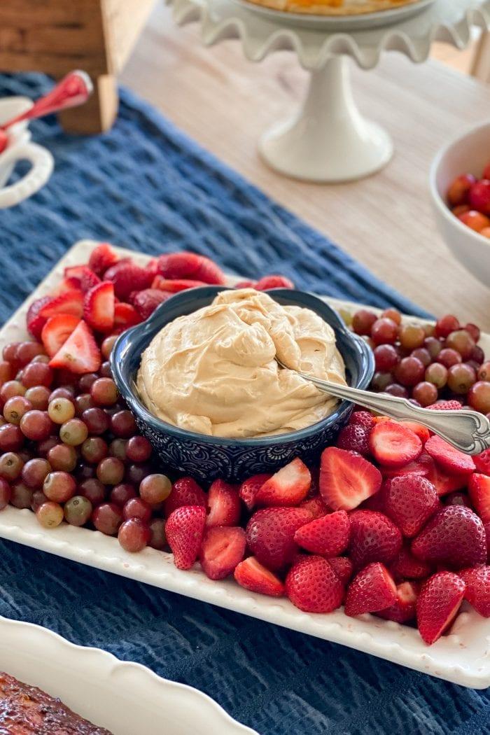 Caramel Cream Cheese Fruit Dip